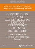 Portada de T1 CONSTITUCION, ESTADO CONSTITUCIONAL, PARTIDOS Y ELECCIONES Y YFUENTES DEL DERECHO: TEMAS BASICOS DE DERECHO CONSTITUCIONAL