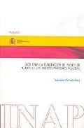 Portada de GUIA PARA LA ELABORACION DE PLANES DE MEJORA EN LAS ADMINISTRACIONES PUBLICAS