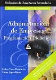 Portada de ADMINISTRACION DE EMPRESAS: PROGRAMACION DIDACTICA, TEMARIO