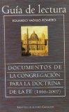 Portada de GUIA DE LECTURA DOCUMENTOS DE LA CONGREGACION PARA LA DOCTRINA DELA FE