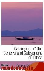 Portada de CATALOGUE OF THE GENERA AND SUBGENERA OF BIRDS