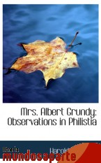 Portada de MRS. ALBERT GRUNDY: OBSERVATIONS IN PHILISTIA