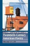 Portada de THE CAMBRIDGE INTRODUCTION TO TWENTIETH-CENTURY AMERICAN POETRY
