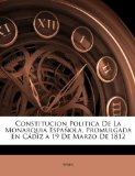 Portada de CONSTITUCION POLITICA DE LA MONARQUIA ES