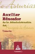 Portada de AUXILIAR EDUCADOR PRINCIPADO ASTURIAS. TEMARIO