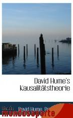 Portada de DAVID HUME S KAUSALITÄTSTHEORIE