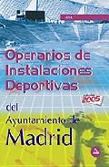 Portada de OPERARIOS INSTALACIONES DEPORTIVAS: AYUNTAMIENTO DE MADRID: TEST