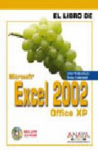 Portada de EXCEL 2002 (INCLUYE CD-ROM)