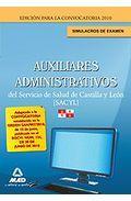 Portada de AUXILIARES ADMINISTRATIVOS DEL SERVICIO DE SALUD DE CASTILLA Y LEON . SIMULACROS DE EXAMEN