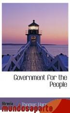Portada de GOVERNMENT FOR THE PEOPLE