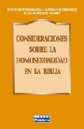 Portada de CONSIDERACIONES SOBRE LA HOMOSEXUALIDAD EN LA BIBLIA