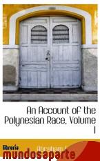 Portada de AN ACCOUNT OF THE POLYNESIAN RACE, VOLUME I