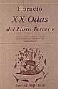 Portada de XX ODAS DEL LIBRO III