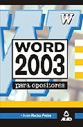 Portada de WORD 2003 PARA OPOSICIONES