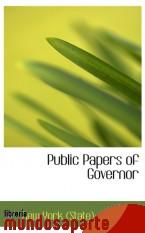 Portada de PUBLIC PAPERS OF GOVERNOR