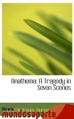 Portada de ANATHEMA: A TRAGEDY IN SEVEN SCENES