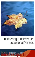 Portada de BRIEFS BY A BARRISTER: OCCASIONAL VERSES