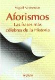 Portada de AFORISMOS: LAS FRASES MAS CELEBRES DE LA HISTORIA