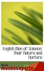 Portada de ENGLISH MEN OF SCIENCE: THEIR NATURE AND NURTURE