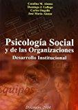 Portada de PSICOLOGIA SOCIAL Y DE LAS ORGANIZACIONES: DESARROLLO INSTITUCIONAL