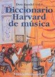 Portada de DICCIONARIO HARWARD DE MUSICA