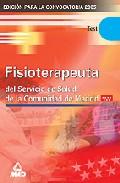 Portada de FISIOTERAPEUTA DEL SERVICIO DE SALUD DE LA COMUNIDAD DE MADRID: TEST