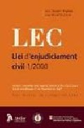 Portada de LEC: LLEI D ENJUDICIAMENT CIVIL 1/2000