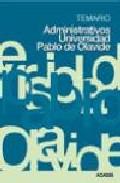 Portada de ADMINISTRATIVOS DE LA UNIVERSIDAD PABLO DE OLAVIDE: TEMARIO
