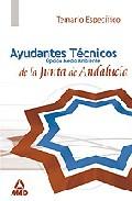 Portada de AYUDANTES TECNICOS DE MEDIO AMBIENTE DE LA JUNTA DE ANDALUCIA. TEMARIO