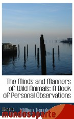 Portada de THE MINDS AND MANNERS OF WILD ANIMALS: A BOOK OF PERSONAL OBSERVATIONS