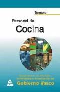 Portada de TEMARIO PERSONAL DE COCINA DEL GOBIERNO VASCO