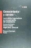 Portada de CONOCIMIENTO Y CAMBIO: LOS MODELOS ORGANIZADORES EN LA CONSTRUCCION DEL CONOCIMIENTO