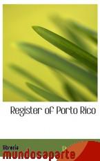 Portada de REGISTER OF PORTO RICO