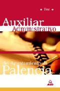 Portada de AUXILIAR ADMINISTRATIVO DEL AYUNTAMIENTO DE PALENCIA: TEST