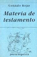 Portada de MATERIA DE TESTAMENTO
