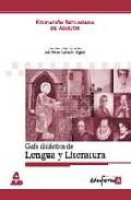 Portada de GUIA DIDACTICA LENGUA Y LITERATURA