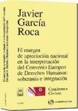 Portada de EL MARGEN DE APRECIACION NACIONAL EN INTERPRETACION CONVENIO EUROPEO