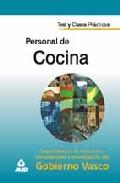 Portada de PERSONAL DE COCINA DEL GOBIERNO VASCO: TEST Y CASOS PRACTICOS