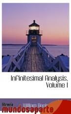 Portada de INFINITESIMAL ANALYSIS, VOLUME I