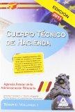 Portada de CUERPO TECNICO DE HACIENDA.AGENCIA ESTATAL DE ADMINISTRACION TRIBUTARIA TEMARIO VOLUMEN I. DERECHO FINANCIERO Y TRIBUTARIO ESPAÑOL PARTE GENERAL Y PROCEDIMIENTOS TRIBUTARIOS