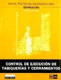 Portada de CONTROL DE EJECUCION DE TABIQUERIAS Y CERRAMIENTOS