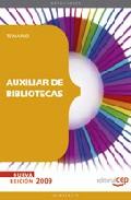 Portada de AUXILIAR DE BIBLIOTECAS. TEMARIO