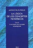 Portada de LA LOGICA DE LOS CONCEPTOS METAFISICOS : LA ARTICULACION D E LOS CONCEPTOS EXTRACATEGORIALES