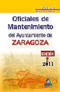 Portada de OFICIALES DE MANTENIMIENTO DEL AYUNTAMIENTO DE ZARAGOZA. TEMARIO MATERIAS ESPECIFICAS