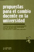 Portada de PROPUESTAS PARA EL CAMBIO DOCENTE EN LA UNIVERSIDAD