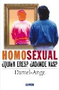Portada de HOMOSEXUAL: ¿QUIEN ERES?, ¿ADONDE VAS?