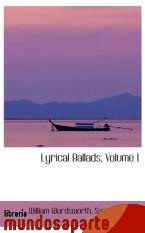 Portada de LYRICAL BALLADS, VOLUME I