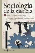 Portada de SOCIOLOGIA DE LA CIENCIA