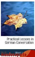 Portada de PRACTICAL LESSONS IN GERMAN CONVERSATION