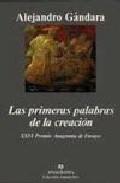 Portada de LAS PRIMERAS PALABRAS DE LA CREACION